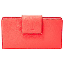 Buy Fossil Emma Leather RFID Tab Clutch Purse Online at johnlewis.com