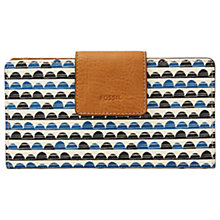 Buy Fossil Emma Tab RFID Clutch Purse, Blue Print Online at johnlewis.com