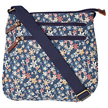 Buy Fat Face Floral Canvas Across Body Bag, Multi Online at johnlewis.com