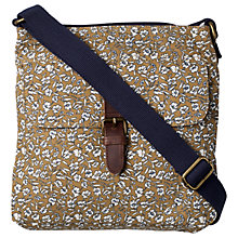 Buy Fat Face Ditzy Floral Canvas Across Body Bag, Mustard Online at johnlewis.com