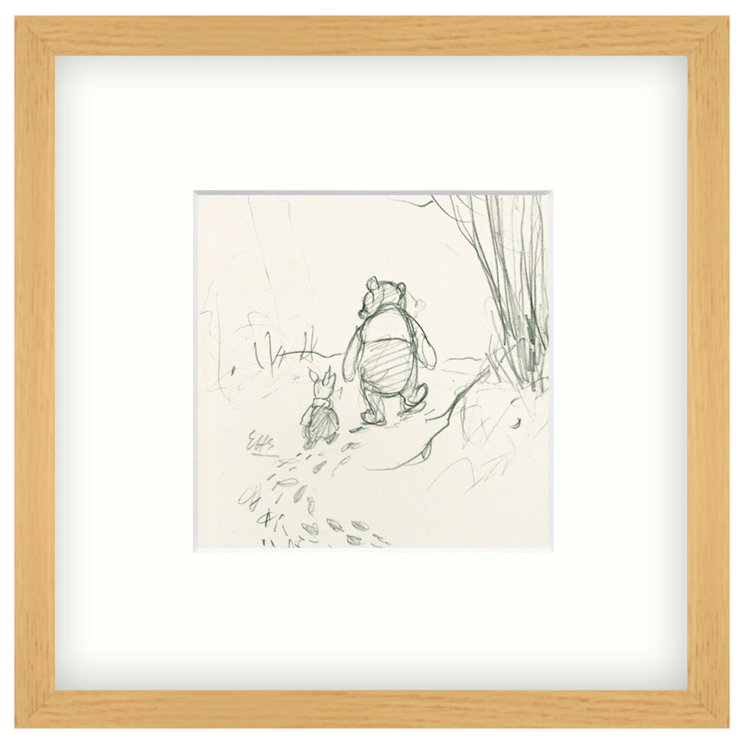 John Lewis John Lewis Winnie The Pooh Framed Print, 26 x 26cm