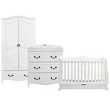 Buy Silvercross Windsor Cotbed, Dresser and Wardrobe Set, Solid White Online at johnlewis.com