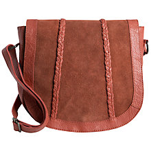 Buy Pieces Cameo Leather Across Body Bag, Ginger Online at johnlewis.com