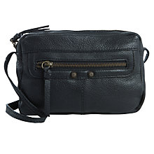 Buy Pieces Lys Leather Across Body Bag, Black Online at johnlewis.com