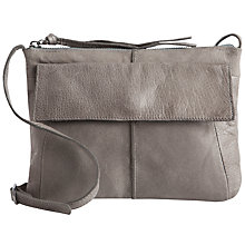 Buy Pieces Lilja Leather Across Body Bag, Elephant Skin Online at johnlewis.com
