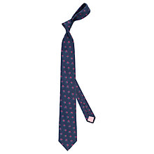 Buy Thomas Pink Primm Flower Silk Tie, Navy/Red Online at johnlewis.com