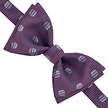 Buy Thomas Pink Docharty Self Tie Silk Bow Tie, Pink/Blue Online at johnlewis.com