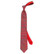 Buy Thomas Pink Monkey Print Woven Silk Tie Online at johnlewis.com