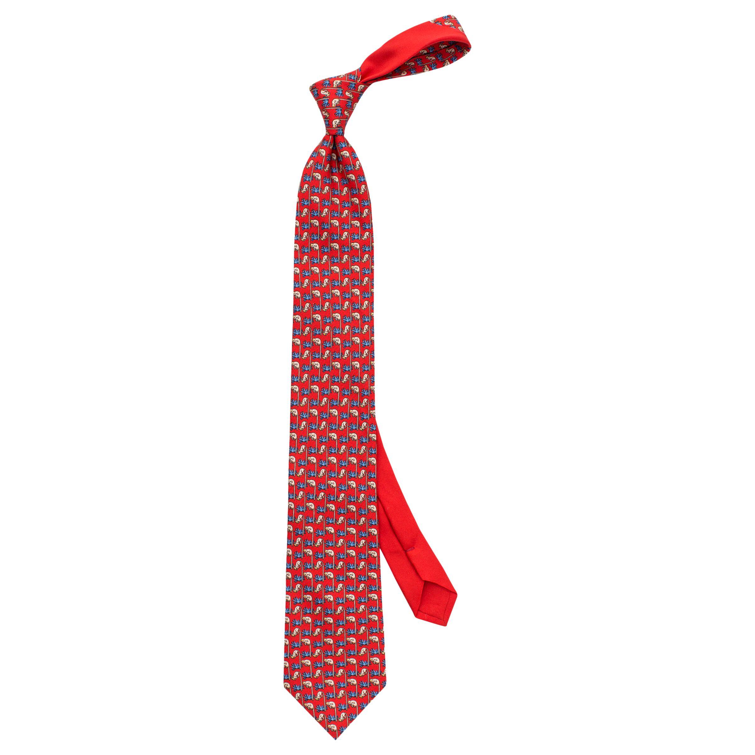 Thomas Pink Thomas Pink Monkey Print Woven Silk Tie