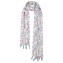Buy Fat Face Children's Floral Scarf, Ecru Online at johnlewis.com