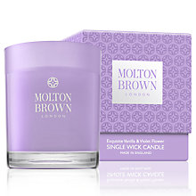 Buy Molton Brown Exquisite Vanilla & Violet Flower Single Wick Candle, 180g Online at johnlewis.com