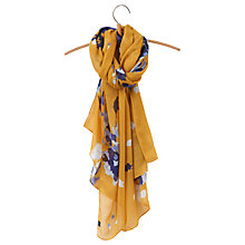 Buy Joules Wensley Floral Scarf, Gold/Multi Online at johnlewis.com