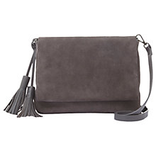 Buy Mint Velvet Rosie Suede Tassel Across Body Bag, Grey Online at johnlewis.com