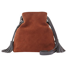 Buy Mint Velvet Rust Mia Suede Drawstring Bucket Bag Online at johnlewis.com