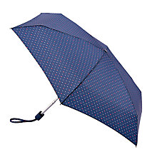 Buy Fulton Tiny Polka Dot and Heart Print Umbrella, Navy/Multi Online at johnlewis.com