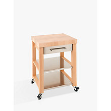 Buy Eddingtons Chilton Kitchen Trolley, FSC-Certified (Beech), Medium Online at johnlewis.com
