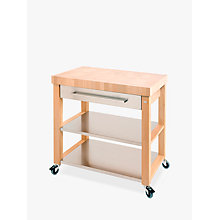 Buy Eddingtons Chilton Kitchen Trolley, FSC-Certified (Beech), Large Online at johnlewis.com