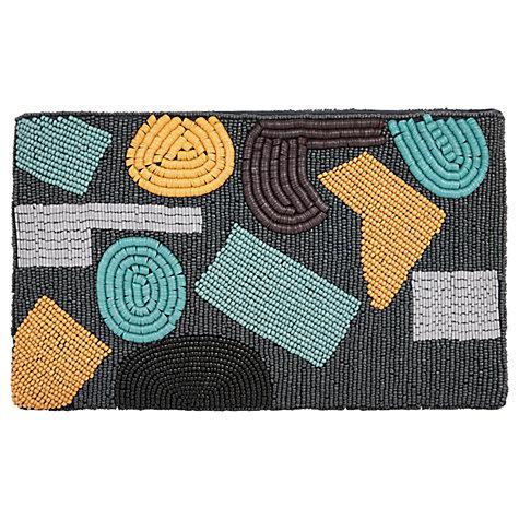 buy jaeger abstract beaded clutch bag navy lewis