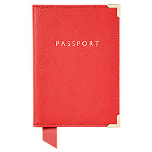 Buy Aspinal of London Leather Passport Cover Online at johnlewis.com