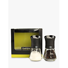 Buy T & G Tip Top Salt and Pepper Mill Set, Black Online at johnlewis.com