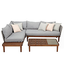 Buy Design Project by John Lewis No.096 Lounging Chaise, Sofa & Coffee Table, FSC-Certified (Acacia) Online at johnlewis.com