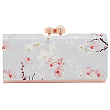 Buy Ted Baker Chiara Oriental Blossom Leather Matinee Purse, Light Grey Online at johnlewis.com