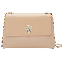 Buy Ted Baker Mihai Leather Across Body Bag, Taupe Online at johnlewis.com