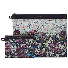 Buy Ted Baker Romy Double Pouch Set, Navy Online at johnlewis.com