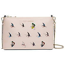 Buy Ted Baker Colour By Numbers Conan Fly Fishing Leather Across Body Bag, Pale Pink Online at johnlewis.com
