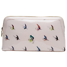 Buy Ted Baker Colour By Numbers Lyman Fly Fishing Wash Bag, Pale Pink Online at johnlewis.com