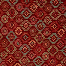 Buy John Lewis Talis Diamond Furnishing Fabric, Red Online at johnlewis.com
