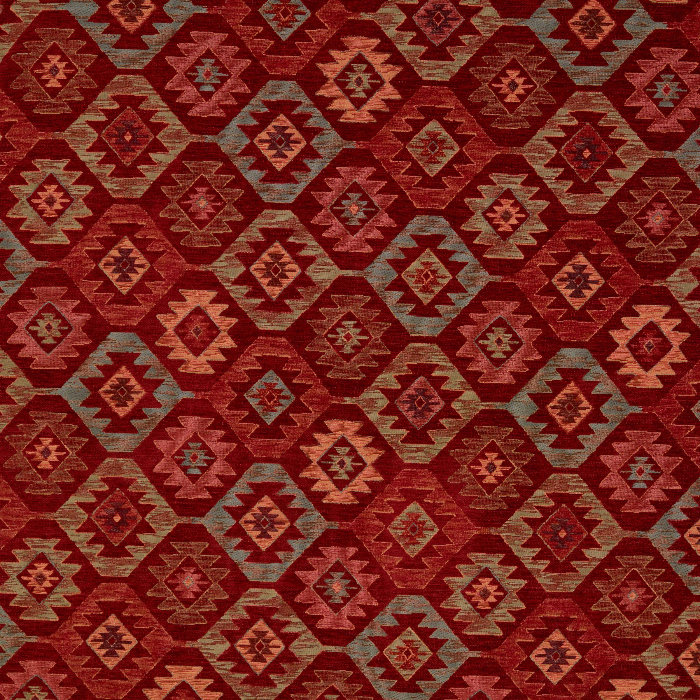 John Lewis John Lewis Talis Diamond Furnishing Fabric, Red
