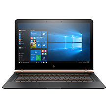 "Buy HP Spectre 13-v105na Laptop, Intel Core i7, 8GB RAM, 512GB SSD, 13.3"" Full HD, Ash Luxe Copper Online at johnlewis.com"