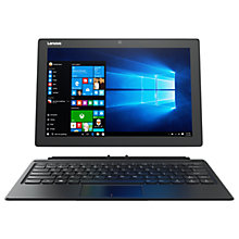 "Buy Lenovo Miix 510 Tablet with Detachable Keyboard and Active Pen, Intel Core i5, 4GB RAM, 128GB SSD, 12.2"" Touch Screen, Wi-Fi, Silver Online at johnlewis.com"