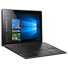 "Buy Lenovo Miix 310 Tablet with Detachable Keyboard, Intel Atom, 4GB RAM, 64GB eMMC, 10.1"" Touch Screen, Wi-Fi, Silver Online at johnlewis.com"