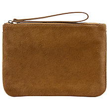 Buy Hobbs Haircalf Leather Wristlet Purse Online at johnlewis.com