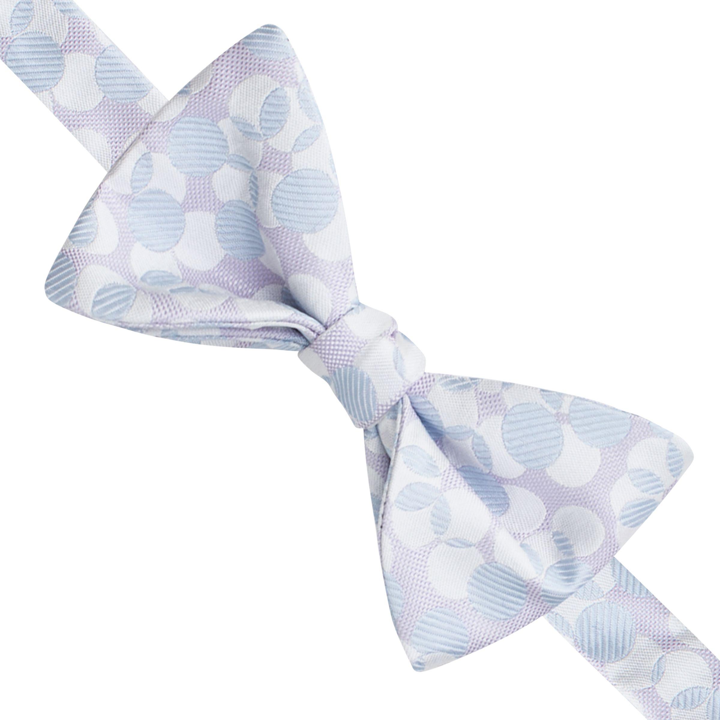 Thomas Pink Thomas Pink Lely Spot Self Tie Silk Bow Tie, Lilac/Blue