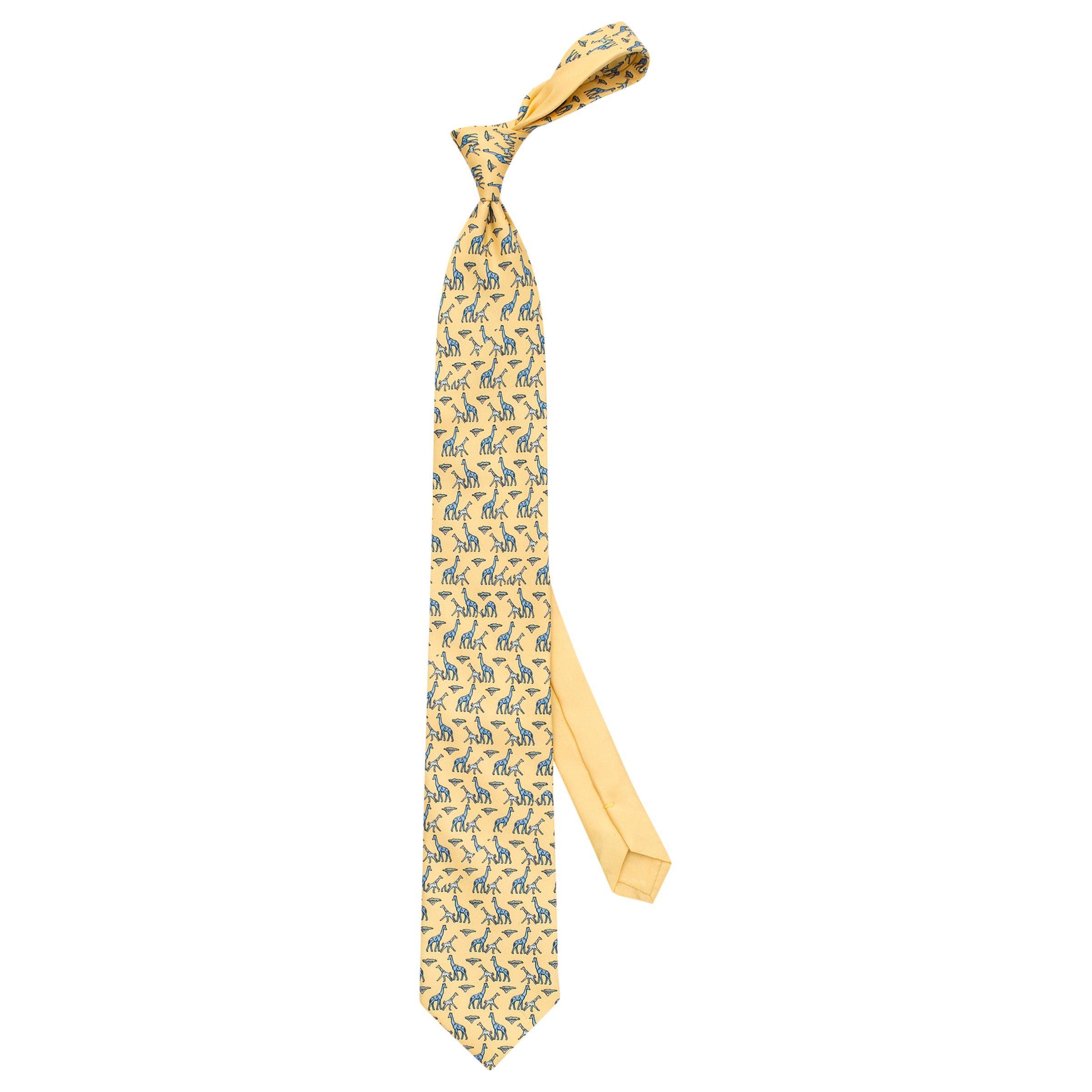 Thomas Pink Thomas Pink Giraffe Family Print Woven Silk Tie