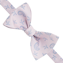 Buy Thomas Pink Vaux Paisley Self Tie Silk Bow Tie, Pale Pink/Blue Online at johnlewis.com