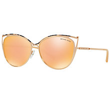 Buy Michael Kors MK1020 Ina Cat's Eye Sunglasses, Gold/Mirror Yellow Online at johnlewis.com