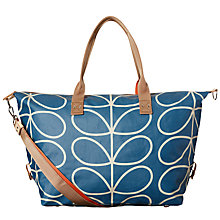 Buy Orla Kiely Linear Stem Holdall, Blue Online at johnlewis.com