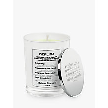 Buy Maison Margiela Replica At The Barber's Candle, 185g Online at johnlewis.com