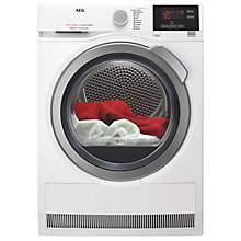 Buy AEG T7DBG832R Heat Pump Tumble Dryer, 8kg Load, A+ Energy Rating, White Online at johnlewis.com