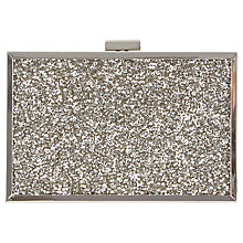Buy Coast Tayla Sparkle Box Clutch Bag, Gunmetal Online at johnlewis.com