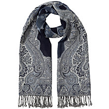 Buy East Maahir Wool Shawl, Ink Online at johnlewis.com