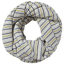 Buy East Jersey Stripe Snood, Grey Online at johnlewis.com