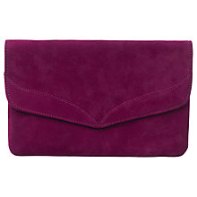 Buy Phase Eight Caitlin Suede Clutch Bag, Garnet Online at johnlewis.com