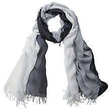 Buy Pure Collection Aubrie Dip Dye Scarf, Grey Online at johnlewis.com