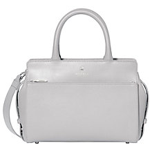Buy Modalu Berkeley Leather Small Grab Bag, Shark Online at johnlewis.com