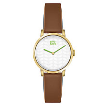 Buy Orla Kiely Luna Leather Strap Watch Online at johnlewis.com